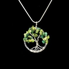 Aquamarine gemstone tree of life free shipping us march birthstone tree of life pendant gemstone tree of life silver tree jewelry necklace wire wrapped tree of life meaning emerald tree pendant 457343266 aloadofball Images