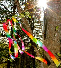 Rainbow Ribbon Wand