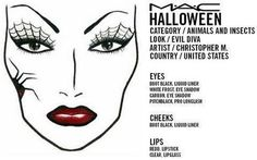 Pure Bliss Bridal & Beauty House: TONS of MAC Halloween FACE CHARTS