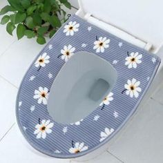 Advertisement - Toilet Seat Cover Flower Pattern Mat Cushion Pad Bathroom Decor Y Tub Mat, Rubber Mat, Bath Mat Sets, Cushion Pads, Seat Covers, Flower Patterns, Toilet, Cushions, Bathroom