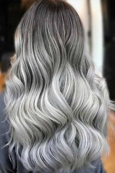 Grey ombre hair is one of the most influential recent color trends. Pick the one you love and show it to your colorist next time you go to a salon. #haircolor #ombrehair #greyombre