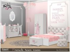 The Sims Resource: French teen room by Severinka • Sims 4 Downloads