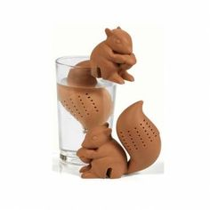 Silicon Squirrel Tea Loose Leaf Strainer Filter Infuser at Banggood
