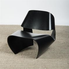 BRODIE NEILL EBONIZED BENT PLYWOOD 'COWRIE' CHAIR, MADE IN RATIO (1400)