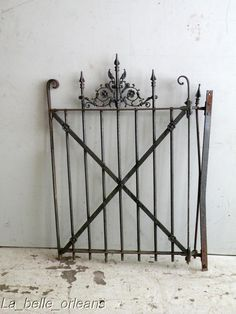 Image detail for -SWEET NEW ORLEANS CAST IRON YARD/GARDEN GATE WINGS !!!! For Sale ...