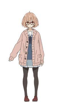 Mirai Kuriyama   Kyoukai no Kanata Wiki   Fandom Anime Egg, Manhwa, Mirai Kuriyama, Beyond The Boundary, Kyoto Animation, Girly Drawings, Anime Child, Girl Body, Light Novel