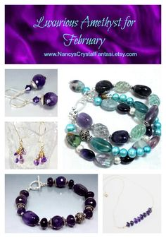 Beautiful jewelry choices for February birthdays.