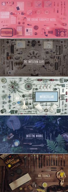 Oscars 2015 Production Design Nominees Title Cards