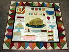 dream quilt create: Thanksgiving Dinner quilt