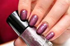 Purple shimmer Latest Nail Designs, Saga, Nail Polish, Purple, Nails, Beauty, Finger Nails, Ongles, Manicure