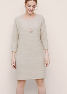 Textured cotton dress | VIOLETA BY MANGO