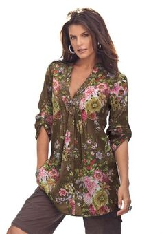 Roamans Women's Plus Size English Floral Bigshirt for only $35.25 You save: $15.00 (30%)