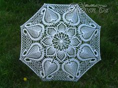 "Вязаный зонт ""Тюльпаны"" Crochet umbrella"