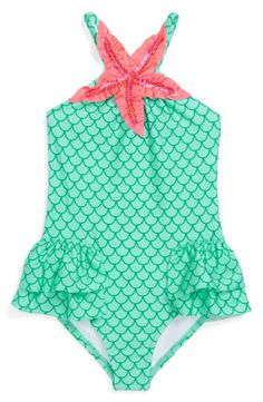 Super cute mermaid inspired one-piece swimsuit.