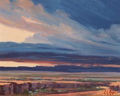 Storm Over the Desert by  Red Cliff Gallery Oil ~ 18 x 14