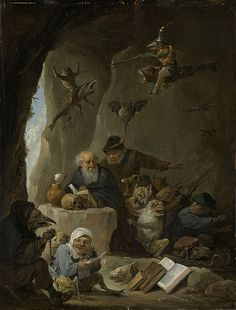 Artist David Teniers the Younger (1610–1690) The Temptation of Saint Anthony Date1640 - 1660 Mediumoil on panel