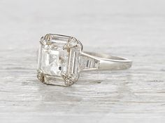 This ring is stunning  	Art Deco Engagement Rings | NYC | Erstwhile Jewelry