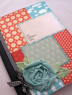 Altered Composition Book by Tessa Buys, via Flickr