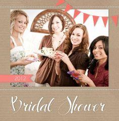 Gotta have a book for the shower! Krafty Bridal Shower Wedding Photo Books