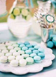 ombre macarons | Jose Villa #wedding