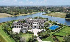 Outrageous Florida Mansion Has Saltwater Pool Inspired By The Wynn Las Vegas Wynn Las Vegas, Las Vegas Strip, Grand Foyer, Grand Staircase, Delray Beach Florida, South Florida, Florida Mansion, Stone Creek, Mega Mansions