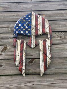 """Spartan """"American Flag"""" Helmet"""