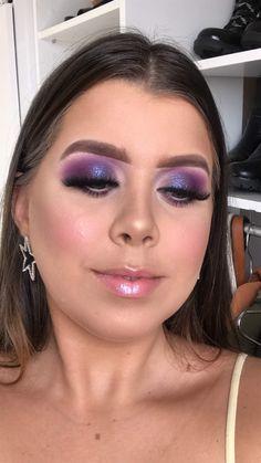 Purple Eye Makeup, Skin Makeup, Beauty Makeup, Maquillage Goth, Pretty Makeup Looks, Basic Makeup, Makeup Obsession, Makeup Brands, Makeup Routine