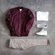 6715acdc14ad6 12 Best Maroon Bomber Jacket Outfit Men images