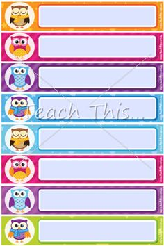 Printable days of the week cheap charts days of the week from printable owl name tags please login to comment publicscrutiny Image collections