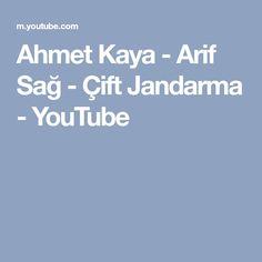Ahmet Kaya - Arif Sağ - Çift Jandarma - YouTube