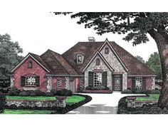 Floor Plans Story French Country Home With