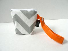 BagEnvy Handbags' Pacifier Pouch  In Grey Chevron and by BagEnvy, $10.00