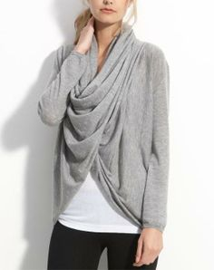 Love this cozy draped cardigan.