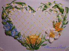 Gallery.ru / Весеннее сердечко - Продолжаю учиться вышивать - lanat