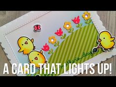 Lights, CARDS, Action -- Happy Mother's Day! Join me as I make this light-up interactive card for Mother's Day with Chibitronics LED circuit stickers. Mothers Day Crafts, Crafts For Kids, Led, Lawn Fawn Stamps, Interactive Cards, Christmas Tree Cards, Light Crafts, Card Making Tutorials, Creative Play