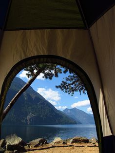 This is what I call a room with a view! Ross Lake located at the North Cascade Mountains in Washington state USA