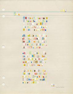 Catalina Viejo Lopez de Roda, Letter to a poet, collage, 10 3/4 x 8 1/2, 2008.