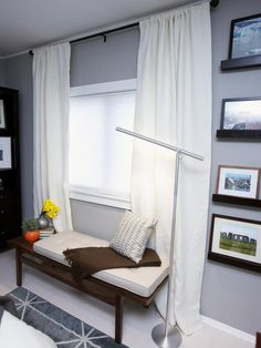 Good idea for a seating/reading little nook in the bedroom