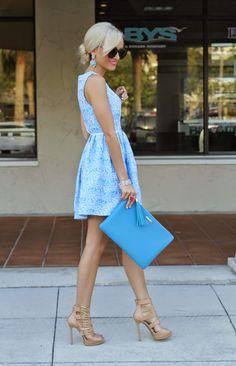 GiGi New York | Sky Blue Uber Clutch | A Spoonful of Style Fashion Blog