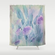 Buy Shower Curtains featuring Heavenly Lavender Water Color Floral by Judy Palkimas. Made from 100% easy care polyester our designer shower curtains are printed in the USA and feature a 12 button-hole top for simple hanging.