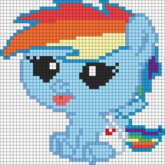 Rainbow dash filly template