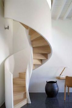 ideas spiral stairs architecture design for 2019 Spiral Stairs Design, Staircase Design, Staircase Ideas, Rustic Stairs, Modern Stairs, Stairs Architecture, Interior Architecture, Round Stairs, Tiny House Stairs