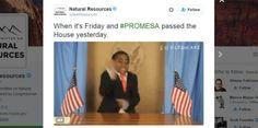 Mientras Puerto Rico sufre comisión federal celebra bailando...