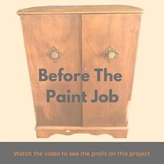 Watch the video to see what I paid for it and how much profit I made after I sold it. Upcycled Furniture, Diy Furniture, Easy Diy Crafts, Crafts For Kids, Diy Home Interior, Diy Projects To Sell, Amazing Life Hacks, Home Decor Inspiration, Decor Ideas