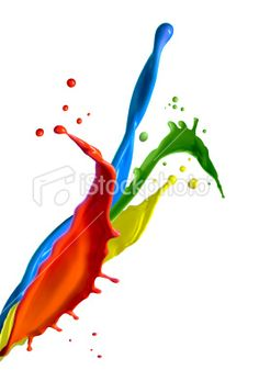 Multicolor paint splashes Royalty Free Stock Photo