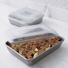 Nordic Ware Bake and Store 13x9 Pan in Bakeware | Crate and Barrel