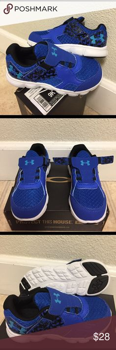 UNDER ARMOUR B INF THRILL RN AC (9K) KIDS SHOES. Brand New Under Armour B INF THRILL RN AC Size:9K Kids Shoes. Lightweight, breathable mesh locks down your foot and increases ventilation. Toe and heel overlays provide stability and durability for the younger athlete. Stretch bungee laces and t-shaped velcro® closure for easier on/off. Anti-microbial treatment applied to minimize the risk of odor causing bacteria and infectious fungus. Foam midsole delivers the ultimate lightweight and…