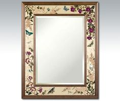 """Hudson River Inlay - Butterfly Suite Border Mirror - HRI-1037 $1200 32""""x40"""""""