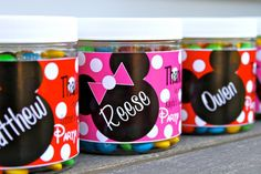 Mickey and Minnie Mouse Party Favors by MissNibbit on Etsy, $2.75