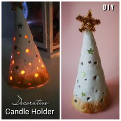 Recipe of DIY Decorative Candle Holder with Salt Dough. Salt Dough is cheap and safety material for this work. holder videos DIY Decorative Candle Holder with Salt Dough Clay Christmas Decorations, Christmas Crafts For Kids, Holiday Crafts, Christmas Diy, Xmas, Christmas Ornaments, Candle Decorations, Salt Dough Decorations, Christmas Candles